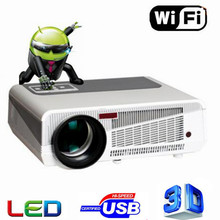 2016 MAX5500lumens Android 4.4 HD LED Wifi Smart Projector 230W 3D home theater LCD Video Proyector TV Beamer with Bluetooth 4.0
