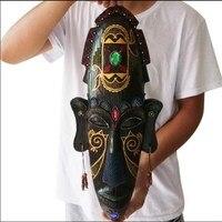 Ev ve Bahçe'ten Heykelcikler ve Minyatürler'de Afrika Rakamlar Maske Asılı Yaratıcı Ev KTV Barlar Sundurma Süslemeleri Reçine El Sanatları Vintage Dini Ev Dekorasyon