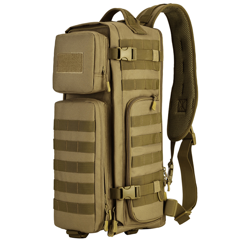 Men Chest Sling Back pack Mens Bags One Single Shoulder Man Large Travel Military Back packs Molle Bags Outdoors Rucksack 2017