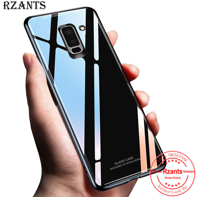 official photos 6aa78 9c9f4 US $4.89 |Rzants Phone Case For Samsung Galaxy J8 Glass Back+TPU Edge Slim  Thin Anti knock Cool Cover For Samsung Galaxy J8-in Half-wrapped Case from  ...
