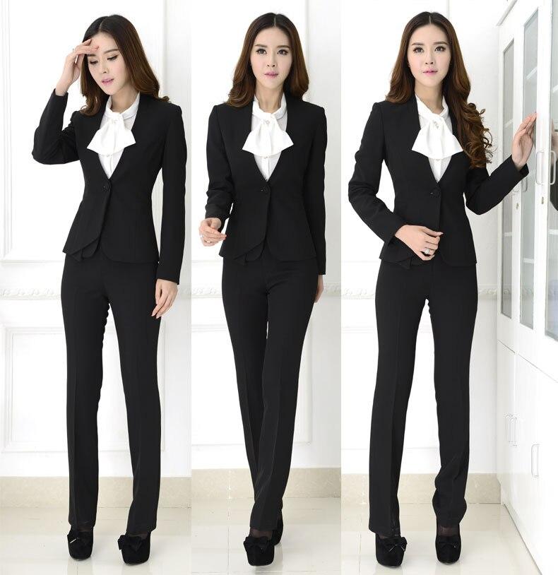 New Elegant Blue Fashion 2015 Professional Business Office Work Wear