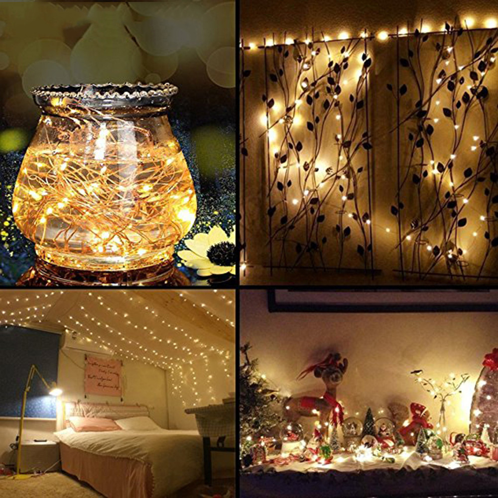 LED Waterproof Icicle String Lights New Year Wedding Party ...