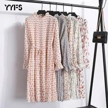 Женское свободное шифоновое платье yyfs Повседневное из 2019