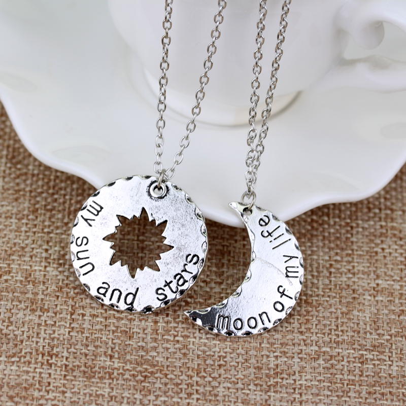 His&Hers Khal/Khaleesi Necklace Game Of Thrones Necklace Moon Of My Life My Sun&Stars Pendant Necklace For Lovers Couple Gift