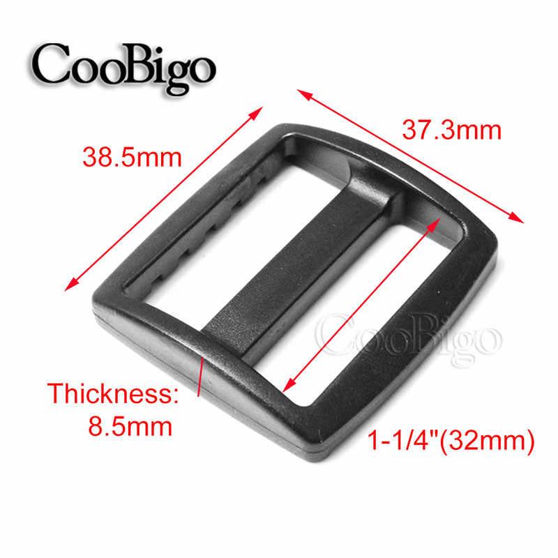 5 Pcs Pack Plastik Melengkung Tri Meluncur Slider Menyesuaikan Gesper 10/16/20/25/32/ 38 Mm Lebih Luas Gaya Ransel Tali Anyaman Tas Outdoor Bagian