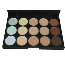 15 colors Professional concealer palettes makeup Cream Base Foundation Palettes Matte Face Contouring cosmetic Concealer palette