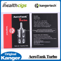 D'origine Kanger Aerotank Turbo atomiseur Kangertech Aerotank Mise À Niveau Double Bobine 6.0 ml atomiseur énorme Vapeur réglable flux d'air 5 pcs