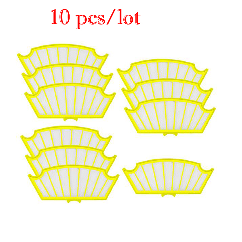 10Pcs/lot Packs Yellow Filters Filter For Roomba for iRobot Roomba 500 Series Vacuum 510 520 530 550 560 570 Brand New мужские трусы brand new 10pcs lot r4r