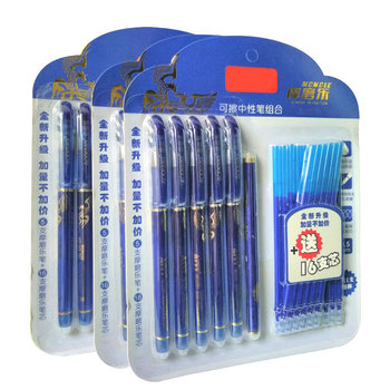 DELVTCH 0.5MM Erasable Suit Gel Pen Blue/Black Ink Magic Erasable Pen Refill and Pen Set For School Student Office Writing Tools 1pcs 0 5mm erasable pen gel pen refills is black blue ink blue and black a magical writing neutral pen office school supplies