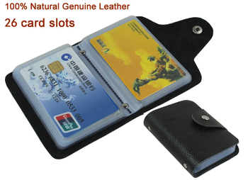 Factory Price Women&Men's 100% Genuine Leather Credit card holder Credit card Case Business Card wallet ID Free shipping MC-901 phone case wood leather card metal glass plastic printing uv ink with factory price