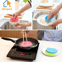 Magic Silicone Dish Bowl Cleaning Brushes Scouring Pad Pot Pan Wash Brushes Cleaner font b Kitchen