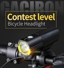 Gaciron 자전거 자전거 헤드 라이트 방수 1000 루멘 mtb 사이클링 플래시 라이트 전면 led 토치 라이트 전원 은행 자전거 액세서리