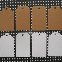 Free Shipping 48pcs Lot Tags Labels Kraft Paper DIY Craft Materials Kraft Paper White Cardboard Bookmark