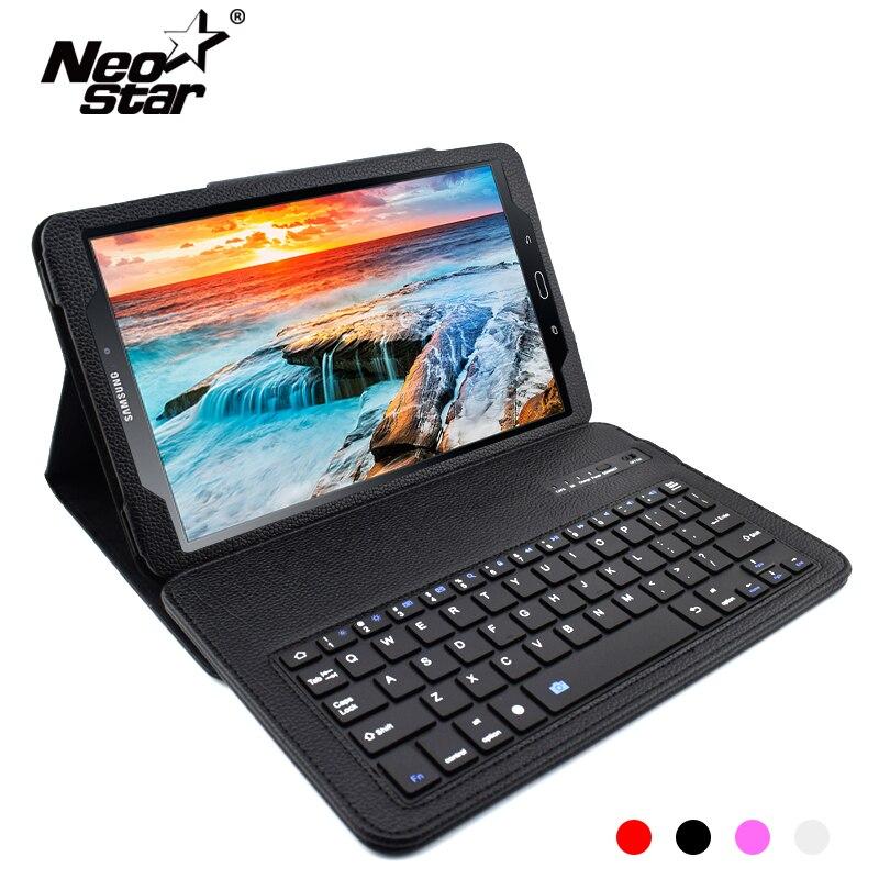 Funda de teclado Bluetooth para Samsung Galaxy Tab 10,1 CASO DE 2016 T580 T585 10,1