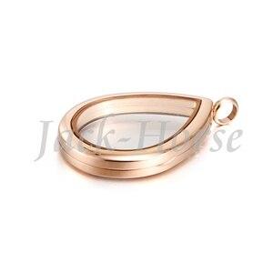 Image 4 - Новый плавающий медальон из нержавеющей стали 316 в форме капли воды! Плавающий медальон в форме капли