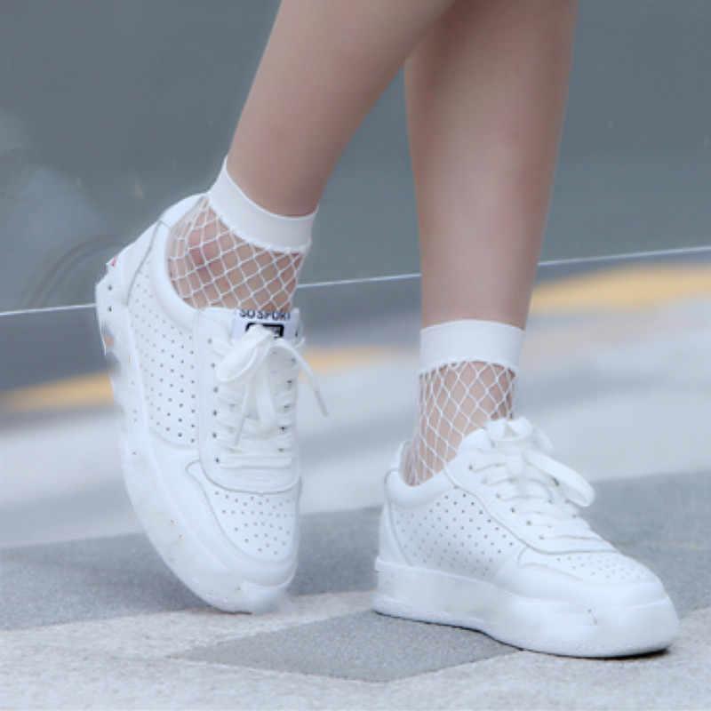 Chic Streetwear transpirable Casual calcetines | Calcetines Niña blanco Sexy redes damas 1PC personalizable de comprar más descuentos