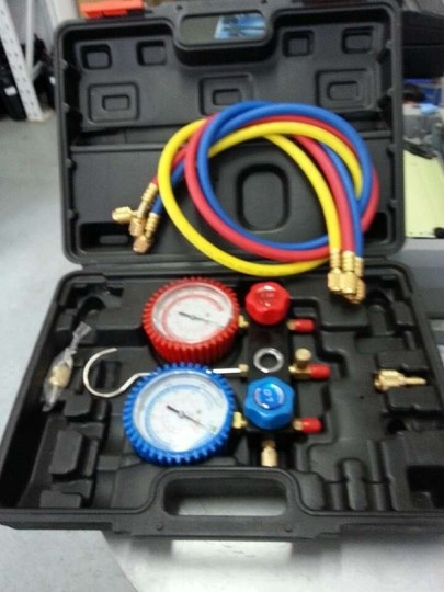 Air conditioning and refrigeration dual pressure, Refrigerant gauge check test air conditioning and fluoride,pressure gauges