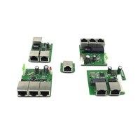 Oem direto da fábrica mini rápido 10 / 100mbps 3-port ethernet rede lan hub switch board duas camadas pcb 3 rj45 5 v 12 v porta principal