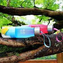 Подарок на день рождения конфетный цвет, матовый лимонный стаканчик ручная соковыжималка портативная крышка из нержавеющей стали пластиковая бутылка для воды A11221