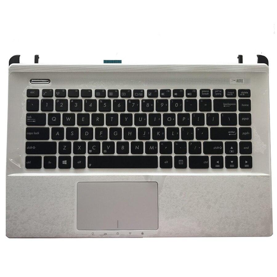 Original Laptop Keyboard Palm Rest  For ASUS A45V K45V A85V R400 K45VD A85 R400V Genuine  Top Case With Keyboard For ASUS K45V