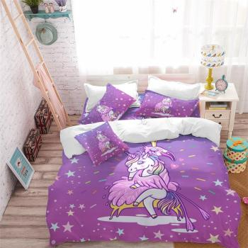 Fall In Love Unicorn Bedding Set