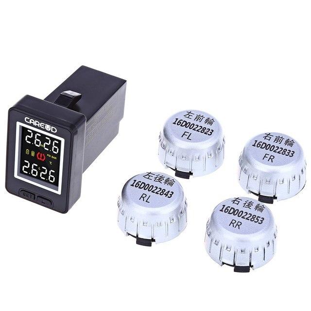 U912 4 External Sensors Monitoring System Car TPMS PSI BAR Diagnostic Tool for Toyota Electronic Pressure Detection