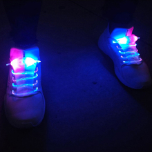 Novelty Lights Led Shoelace Bicycle LED Warning Light Safety Night Running Shoe Battery Safety Clips Light