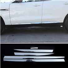 Aluminum alloy Car Side Door Body Molding Decoration Protective Plate Trim For Jaguar F-Pace X761 2016-2018 Car Accessory 6pcs цена