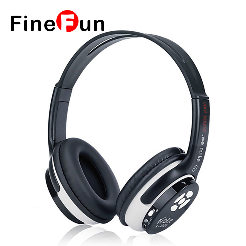 ФОТО Original Kubite Wireless Stereo Bluetooth Headphone Deep Bass Noise Cancelling Ear Buds Headphone With Mic TF Card FM Radio