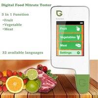 3 в 1 Цифровой пищевой нитрат тестер Высокая точность пищевой безопасности тестер фрукты овощи мясо нитрат тестер детектор здоровье и гигие