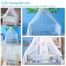 Москитная сетка для детей, летняя детская кроватка, сетка для кроватки, москитная сетка, детский навес, круглая кровать, навес для кроваток, не включает держатель