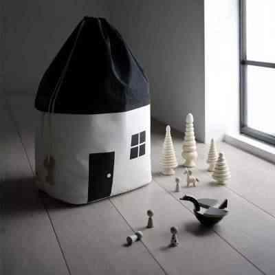 イン北欧の簡単なスタイルの家収納袋ベビー収集服おもちゃのキャンバス巾着袋家庭用収納コレクション用品