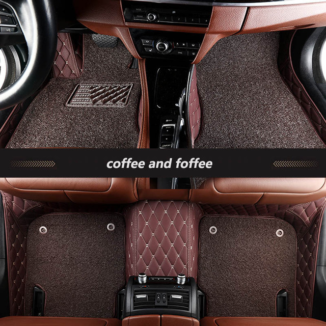 kalaisike Custom car floor mats for Jaguar All Models F-PACE XJL XEL XF XE F-TYPE XK XFL car styling auto accessories