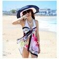 Summer Sun de la Paja Sombreros de Playa Para Mujer Grandes De Papel Plegable Trenza Tejida Sombrero de Ala Ancha Femenina WHDS-006