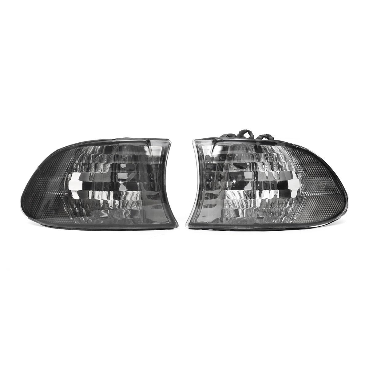 Pair Car Corner Light Left+Right Side Lamps For BMW 7 Series E38 1999 2000 2001 Smoke car light left