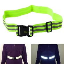 Cinturón de seguridad reflectante de alta visibilidad, cinturón de seguridad para correr de noche, andar en bicicleta, soporte de envío directo