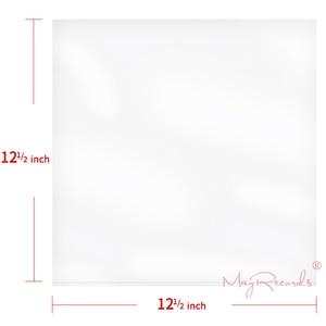 "Image 2 - 25 플랫 오픈 탑 가방 6.7 mil 강한 커버 플라스틱 비닐 레코드 외부 슬리브 12 ""싱글 lp (더블 2lp에 맞지 않음)"