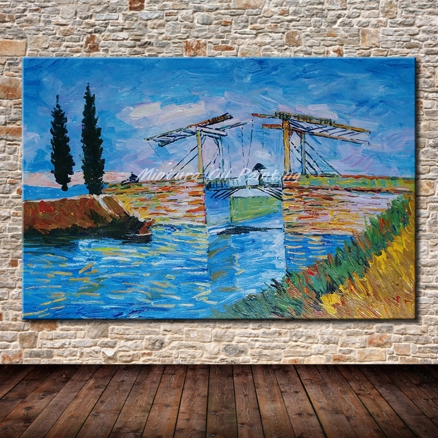 Mintura quadri senza cornice dipinta a mano alpine ponte for Quadri senza cornice