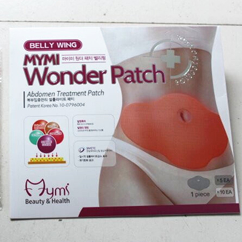 150pcs/lot MYMI Wonder Belly Slimming Patch Anti-Cellulite Weight Loss Fat Burning Abdomen Treatment Navel Sticker MP0088 ...