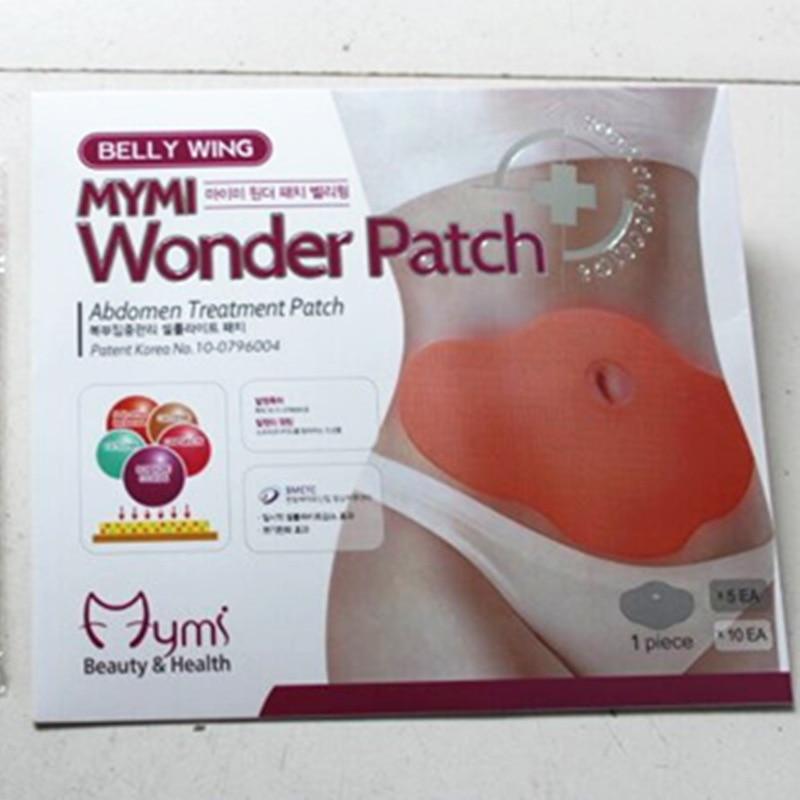 150pcs/lot MYMI Wonder Belly Slimming Patch Anti-Cellulite Weight Loss Fat Burning Abdomen Treatment Navel Sticker MP0088 ...