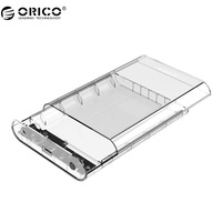 ORICO 3139U3 3 5 Inch Transparent HDD Enclosure Case USB 3 0 5Gbps SATA3 0 Support