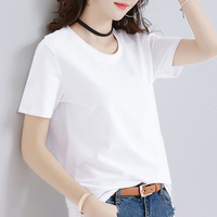 Fashion women's T shirt white color for summer day