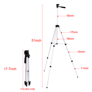 "Image 3 - CY 1 יחידות 130 ס""מ מצלמה מקצועית חצובה סטנד חצובה אור עם זרוע נדנדה עבור מצלמת dslr Canon Nikon Sony עם טלפון קליפ"