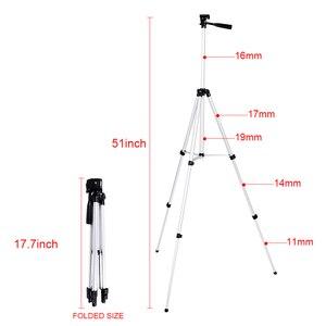 Image 3 - CY 1 sztuk 130 cm profesjonalny statyw kamery stojak światła statyw z wahacz dla Canon Nikon Sony DSLR Camera z klips do telefonu