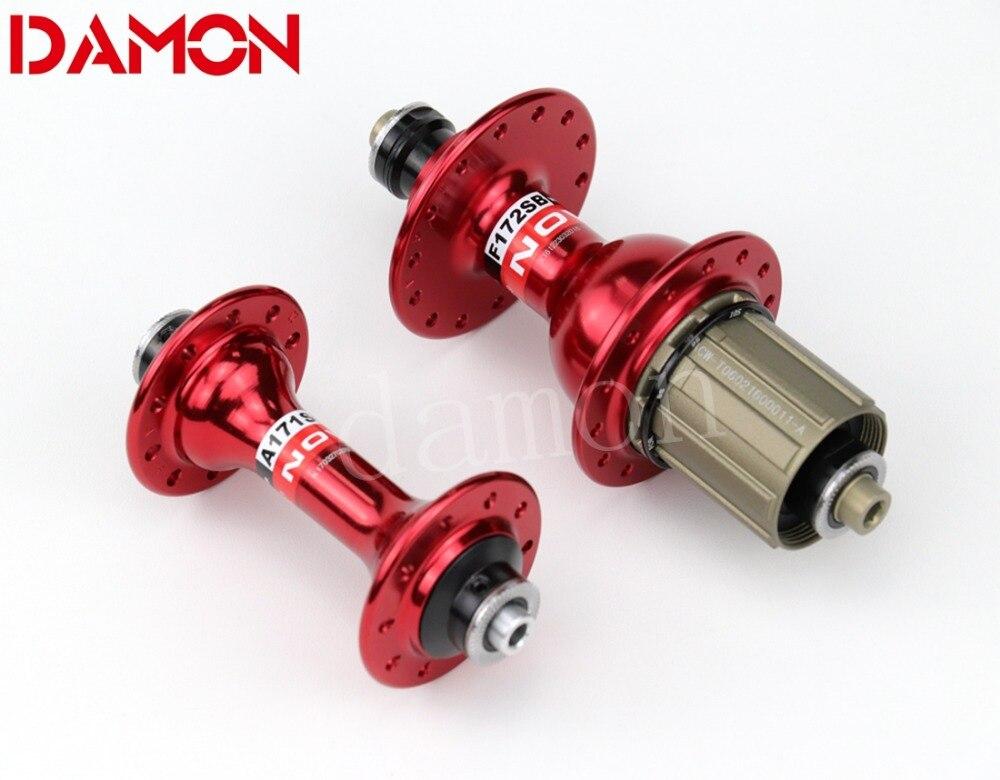 Novatec a171sb f172sb estrada bicicleta cubos de liga de alumínio dianteiro ou traseiro 8/9/10/11 s 20 24 28 32 36 buracos preto vermelho prata ouro