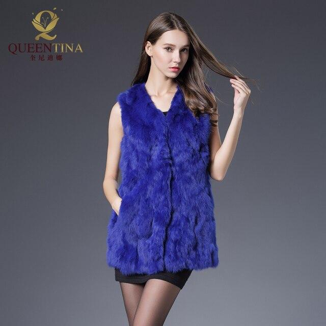 Aliexpress.com : Buy Rabbit Fur Vest Real Natural Fur Coats for ...