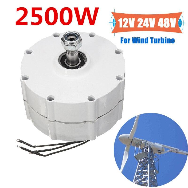 Wind Generator Motor 2500W 12V 24V 48V High Efficiency For DIY Wind Turbines Blade Controller 3 Phase Current PMSG