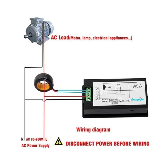 Tensão AC Digital Metros 100A/80 ~ 260 V Potência de Energia Voltímetro Amperímetro Atual Watt Volt Ampères Medidor de LCD painel Do Monitor
