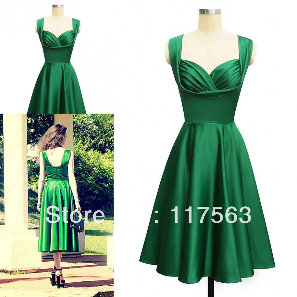 High Quality Green Tea Length Cocktail Dresses-Buy Cheap Green Tea ...
