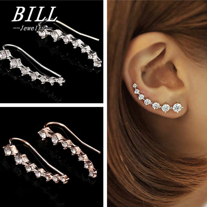 ES688 2018 Boucle D'oreille Anting-Anting Permata Dipper Anting-Anting untuk Wanita Perhiasan Anting-Anting Brincos Gadis Anting Oorbel